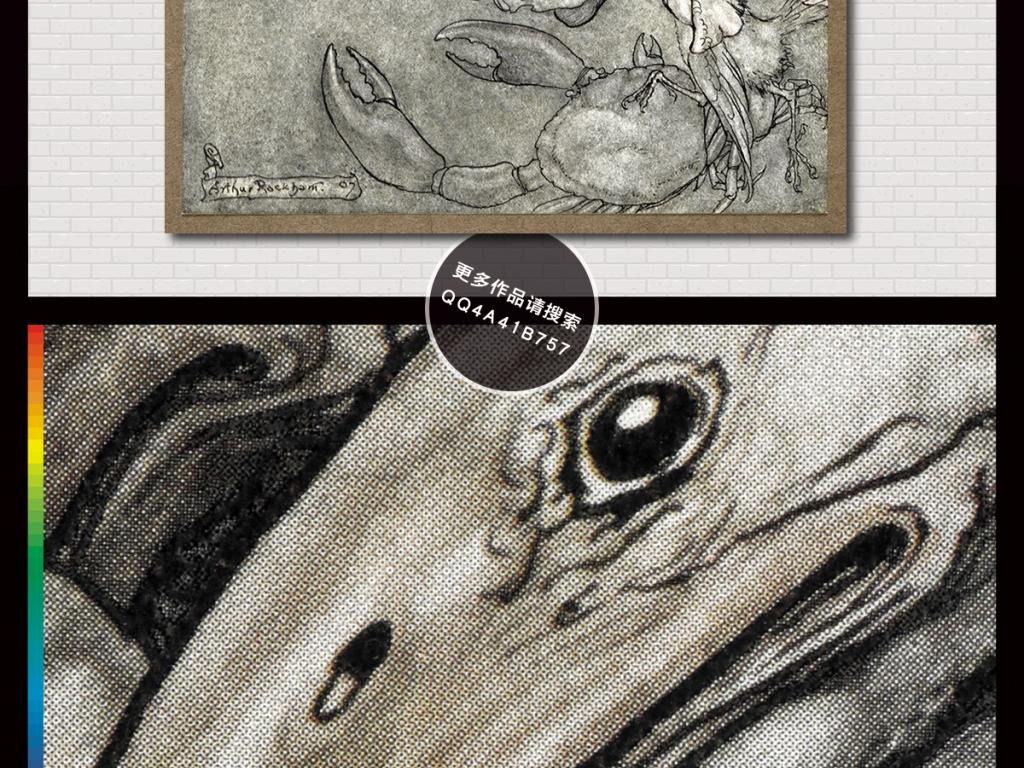 欧式现代简约手绘花鸟水彩插画电视背景墙