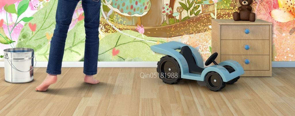 小鹿麋鹿梅花鹿花丛手绘儿童墙画儿童房挂画儿童卧室墙画儿童房无框画
