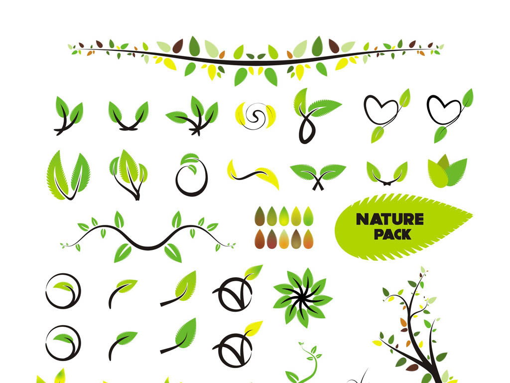 平面|广告设计 其他 设计素材 > 嫩芽绿叶矢量素材cdr树叶嫩绿  版权图片