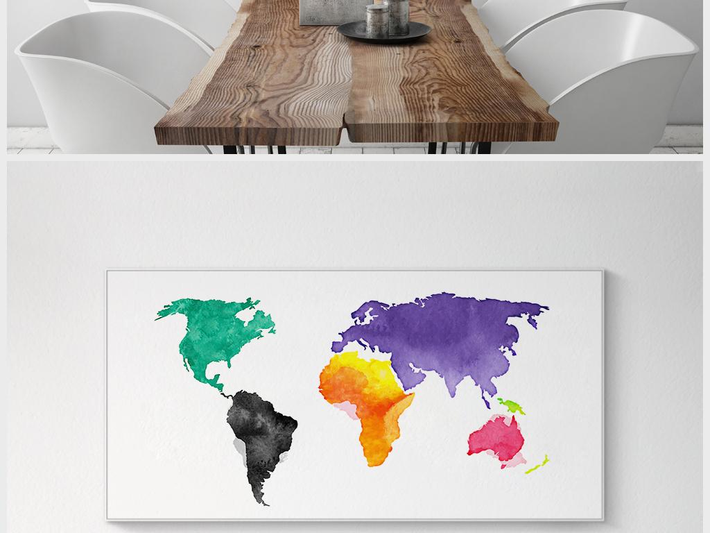 小清新                                  创意抽象手绘风格地图