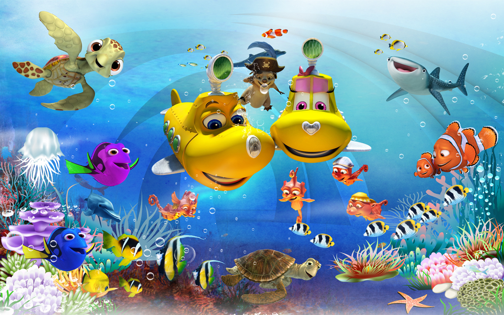 海底世界儿童房壁画梦幻海底世界小孩房