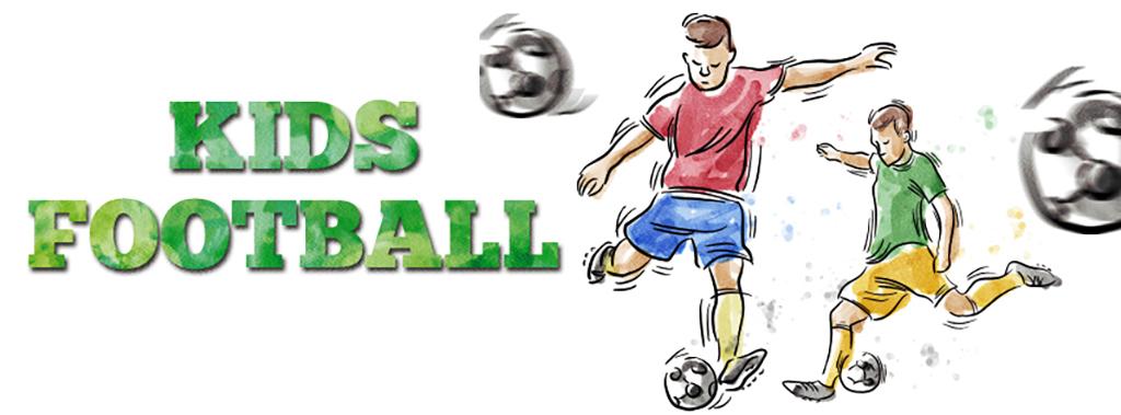 简约唯美手绘水彩儿童足球赛宣传海报图片