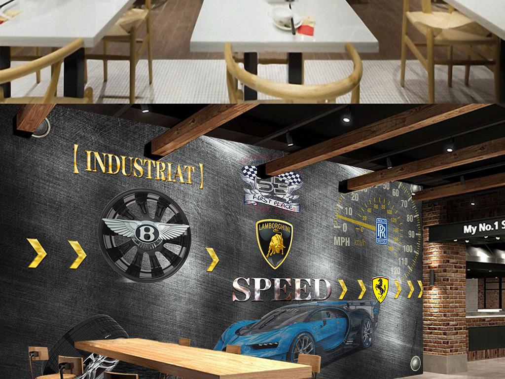 设计作品简介: 3d法拉利兰博基尼豪华汽车背景墙