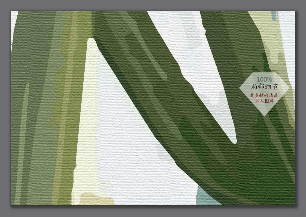 手绘仙人掌西欧风格电视背景墙