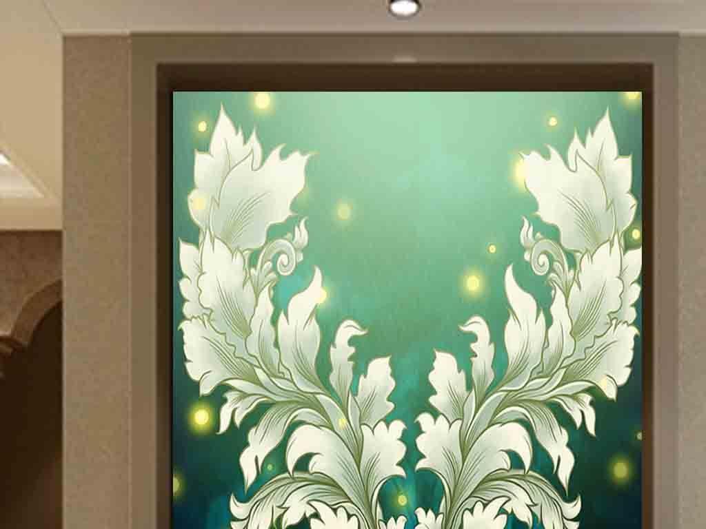 抽象画油画水彩手绘动物画麋鹿梅花鹿鹿角油画 玄关玄关欧式