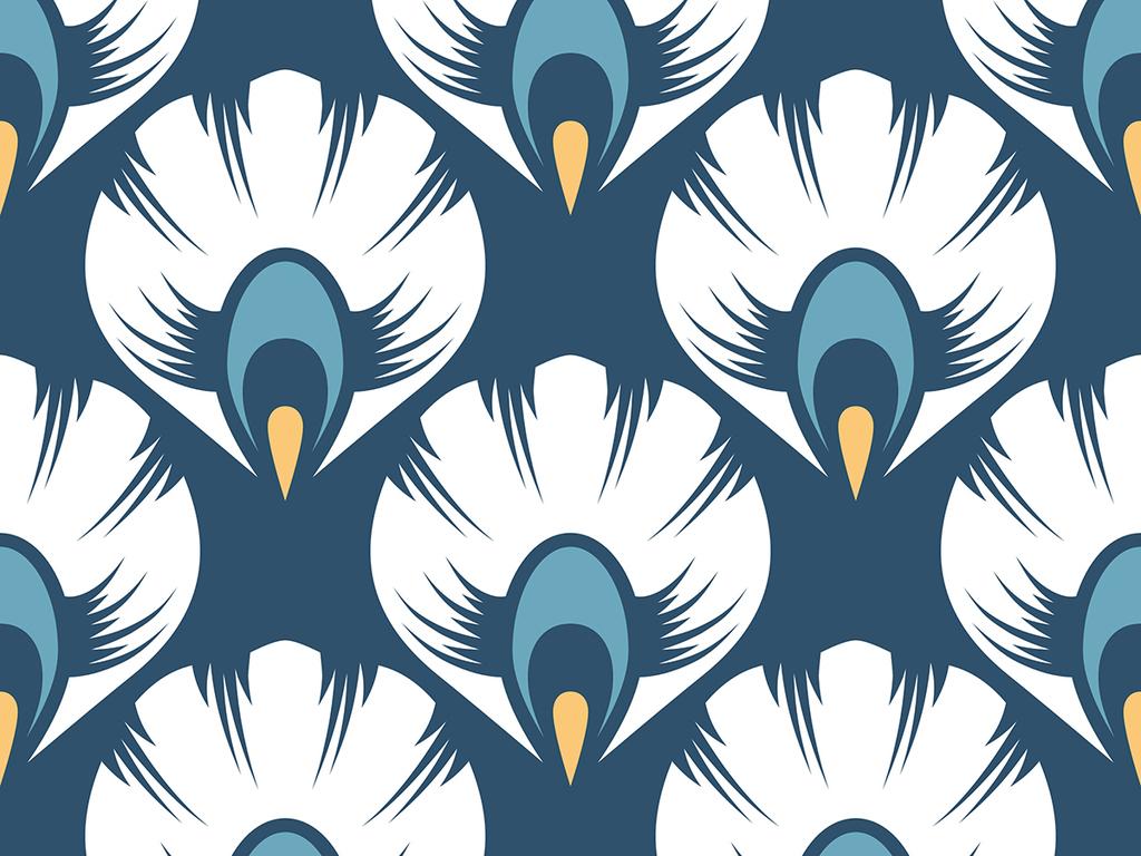 孔雀羽毛墙纸蓝色墙纸可爱墙欧式花纹墙纸墙纸图片墙纸素材欧式墙纸图片