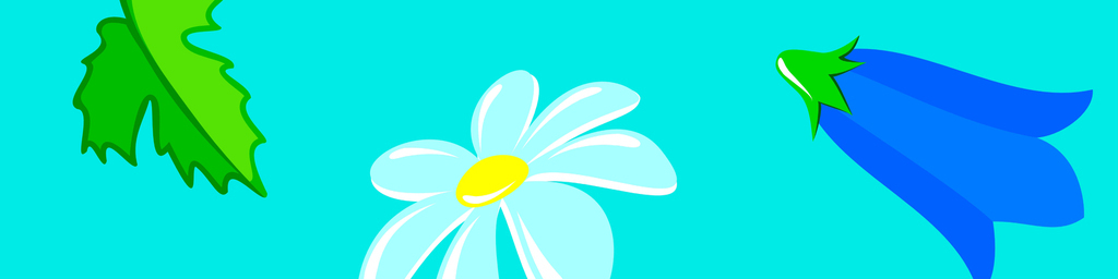 清新手绘花朵墙纸