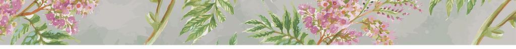 2016手绘中式紫藤花背景墙装饰画