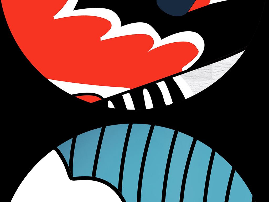 背景墙|装饰画 工装背景墙 酒店|餐饮业装饰背景墙 > 手绘烤鱼火锅店图片