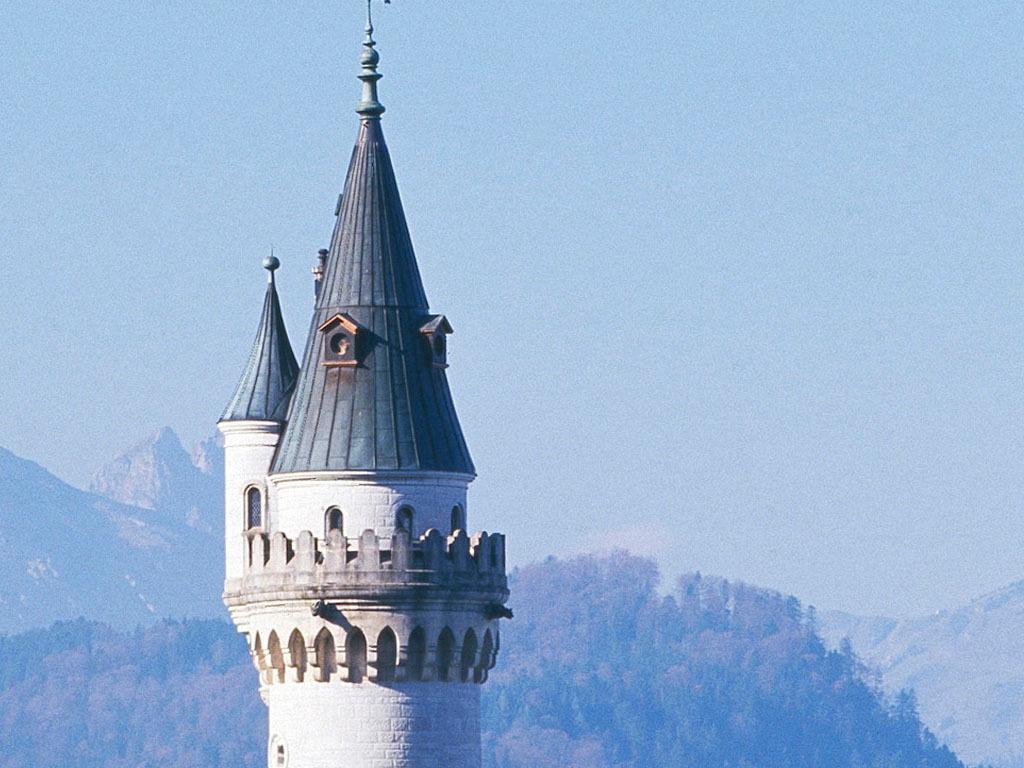 高清德国新天鹅堡城堡背景墙装饰