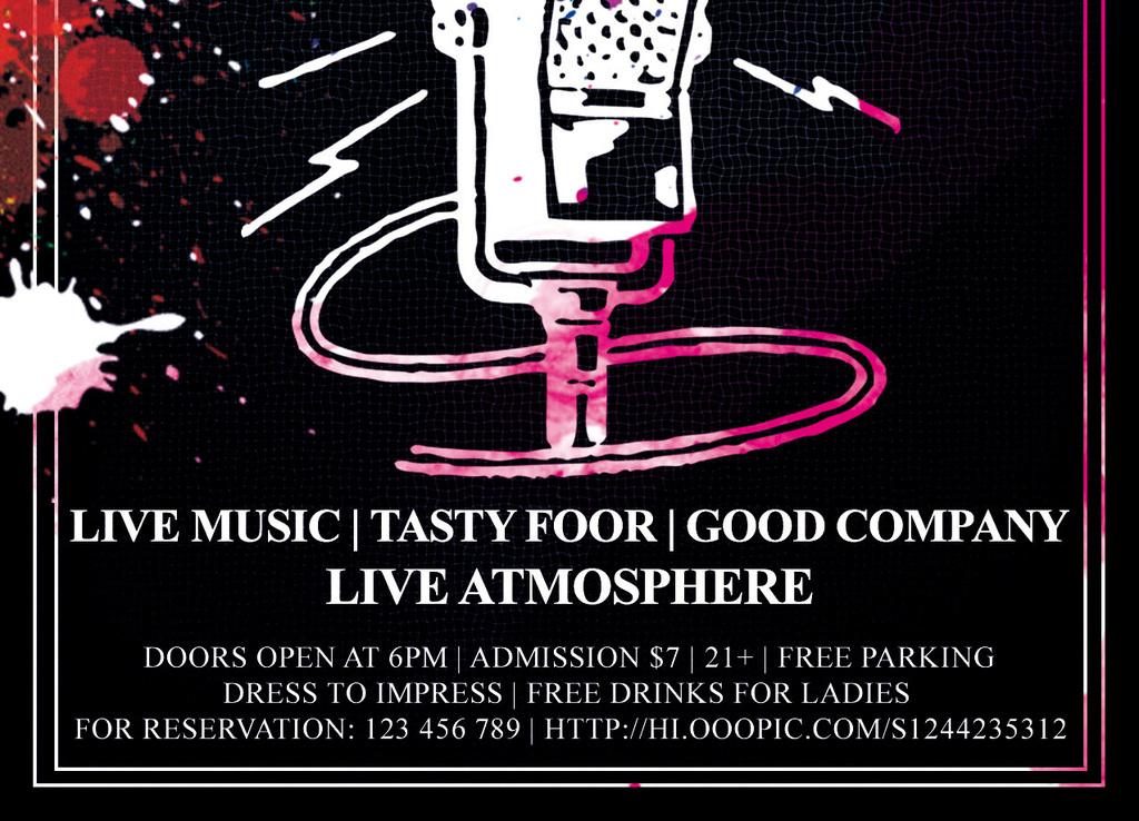 平面|广告设计 海报设计 国外创意海报 > 简约现代音乐节演唱会演讲