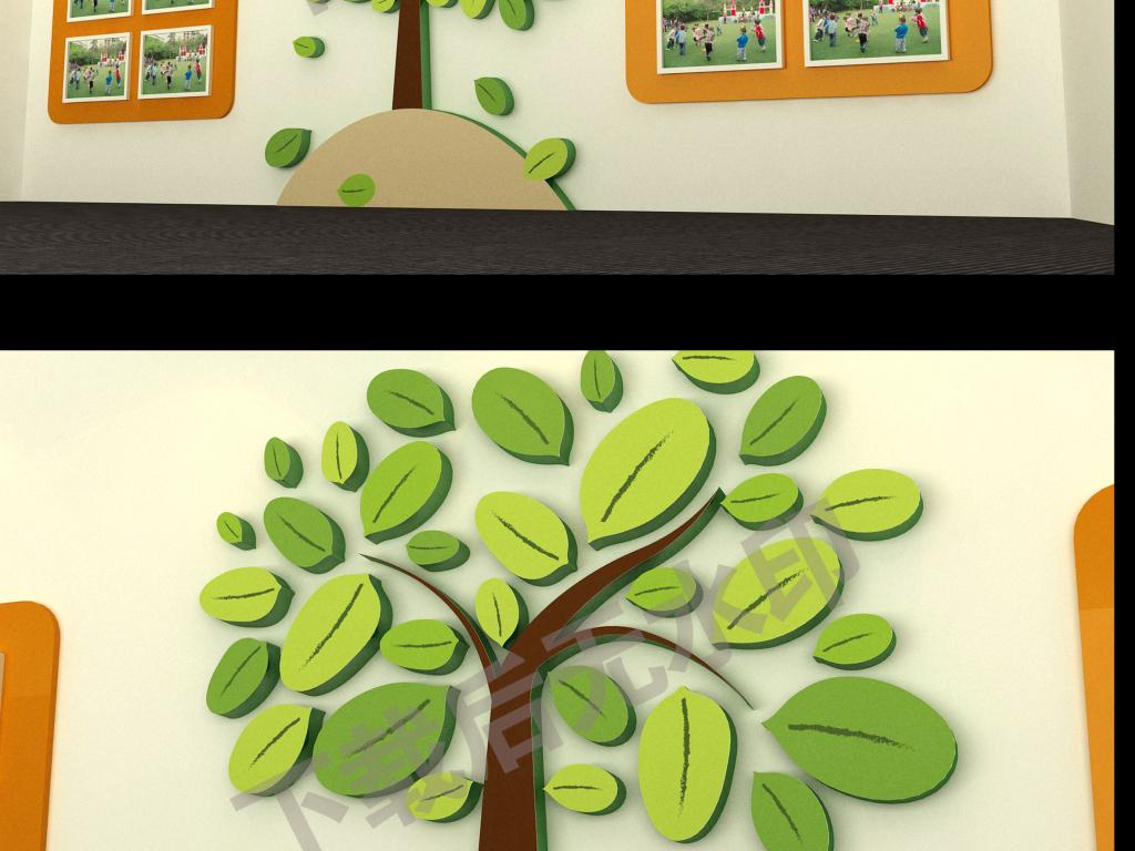 幼儿园宝宝照片墙