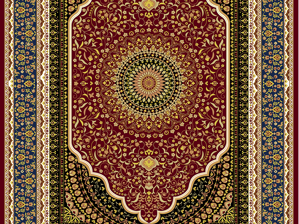 高清米黄石材欧式风格吊顶欧式花纹地板画图片