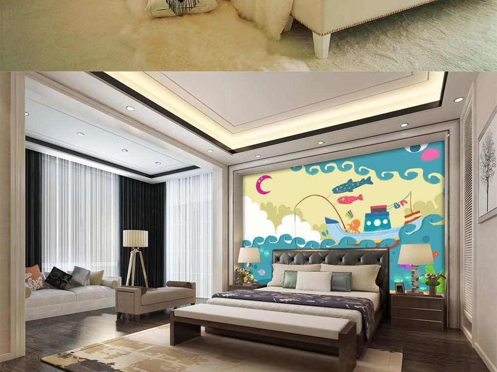 立体画手绘唯美艺术欧式中式大型壁画瓷砖过道走廊彩