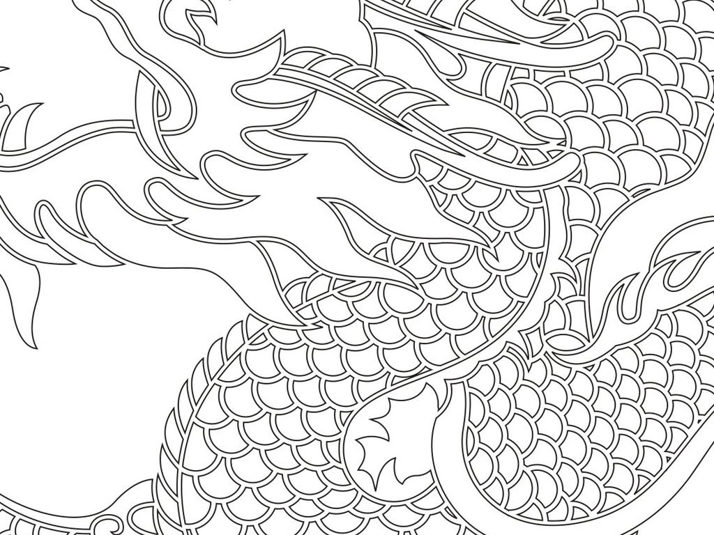 木雕雕花浮雕3d古典图案中式花纹传统屏风移门玄关金龙龙凤呈祥刻绘