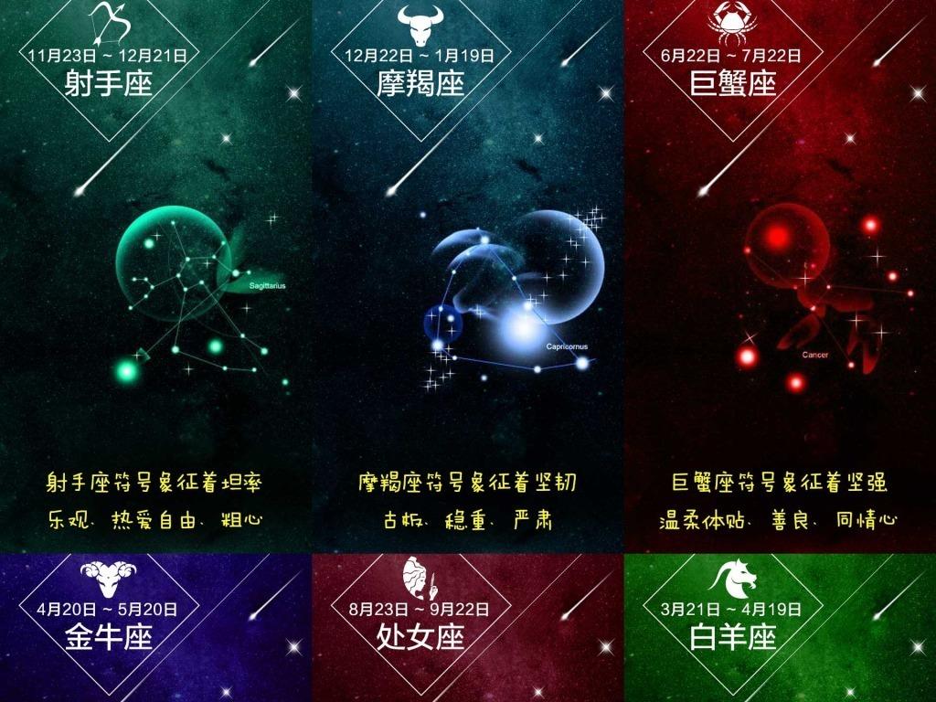 星空海报                                  星空星座十二图片