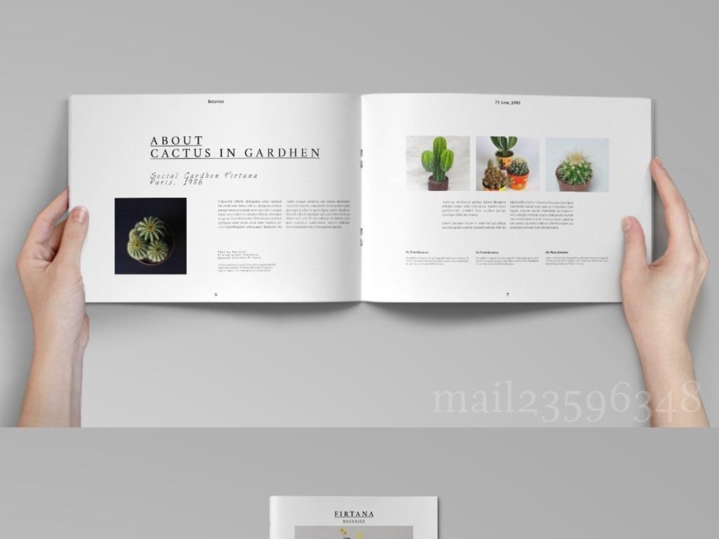 2017年产品手册封面内页排版psd模板图片