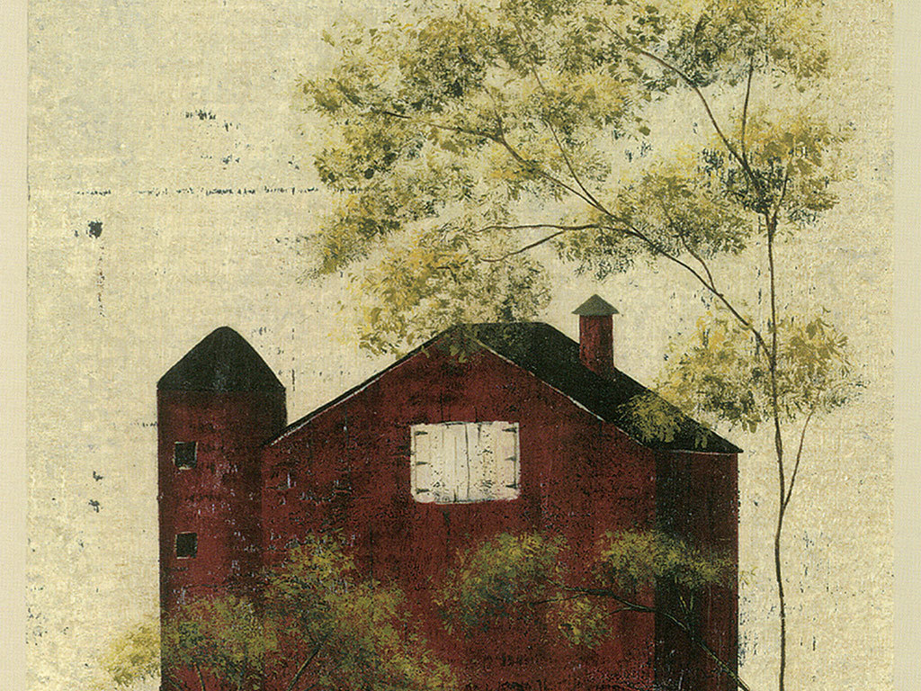 电脑壁纸手绘房屋