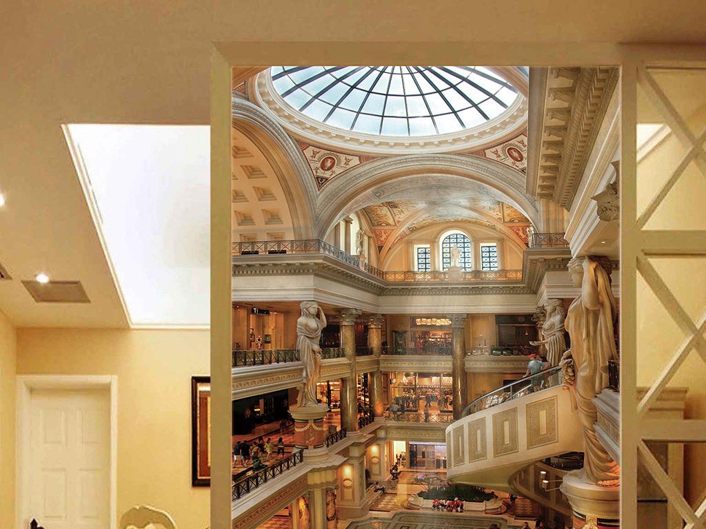 欧式室内建筑商场图片