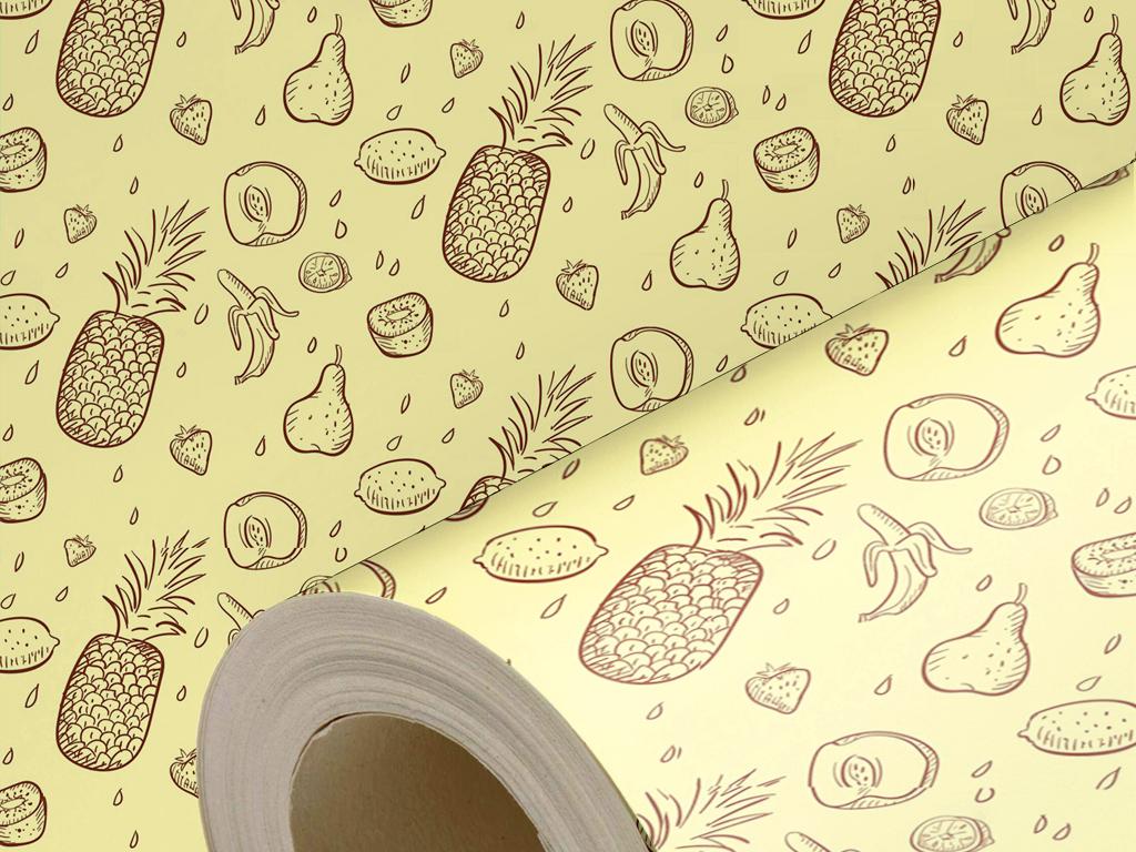 手绘水果图案墙纸手绘壁纸