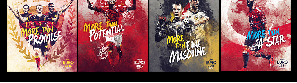 球星世界水彩手绘水彩海报欧洲装饰画欧洲杯世界杯2016年欧洲杯足球