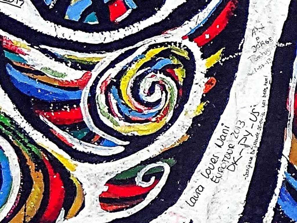 欧美抽象彩色涂鸦工装背景墙壁画