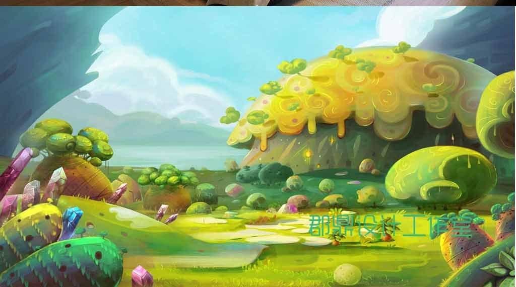 小汽车                                  奇幻儿童森林森林手绘