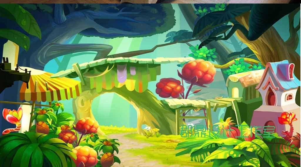 森林背景图片卡通森林背景图卡通大森林卡通动物森林