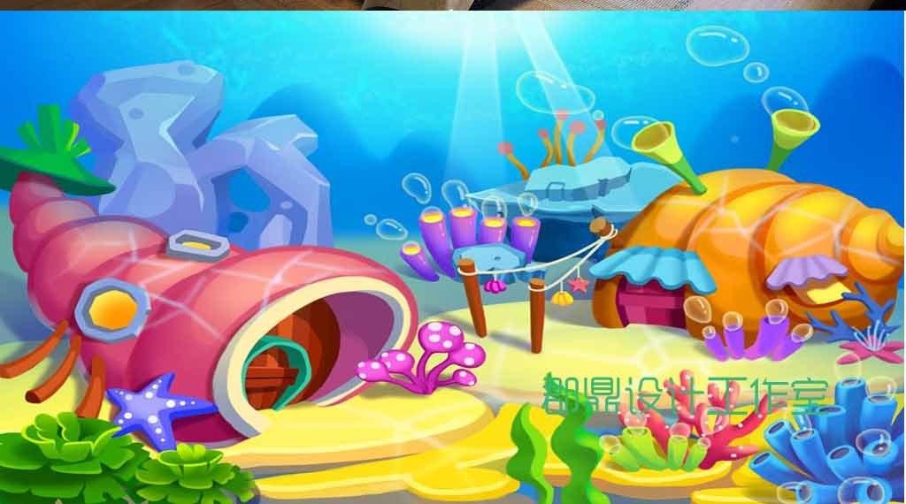画海底世界                                  手绘