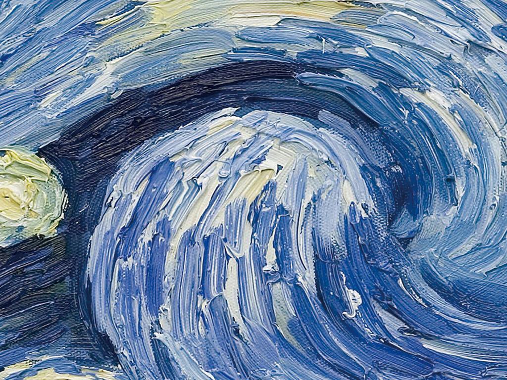 梵高星空油画图片