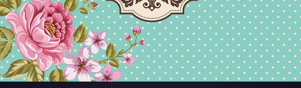 蒂芙尼蓝碎花花卉皇冠婚礼背景设计