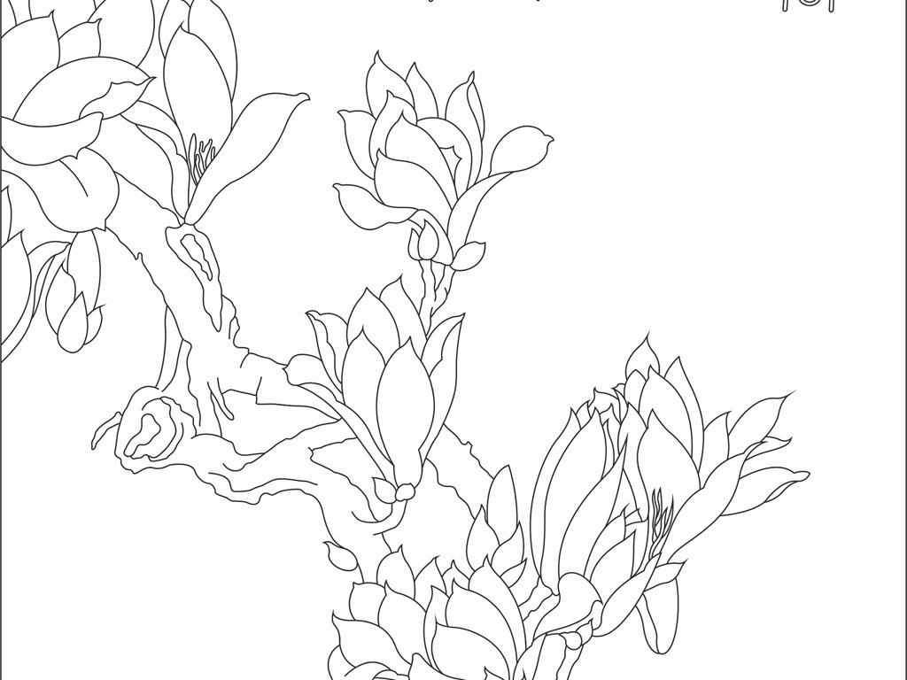 艺术玻璃玉兰花