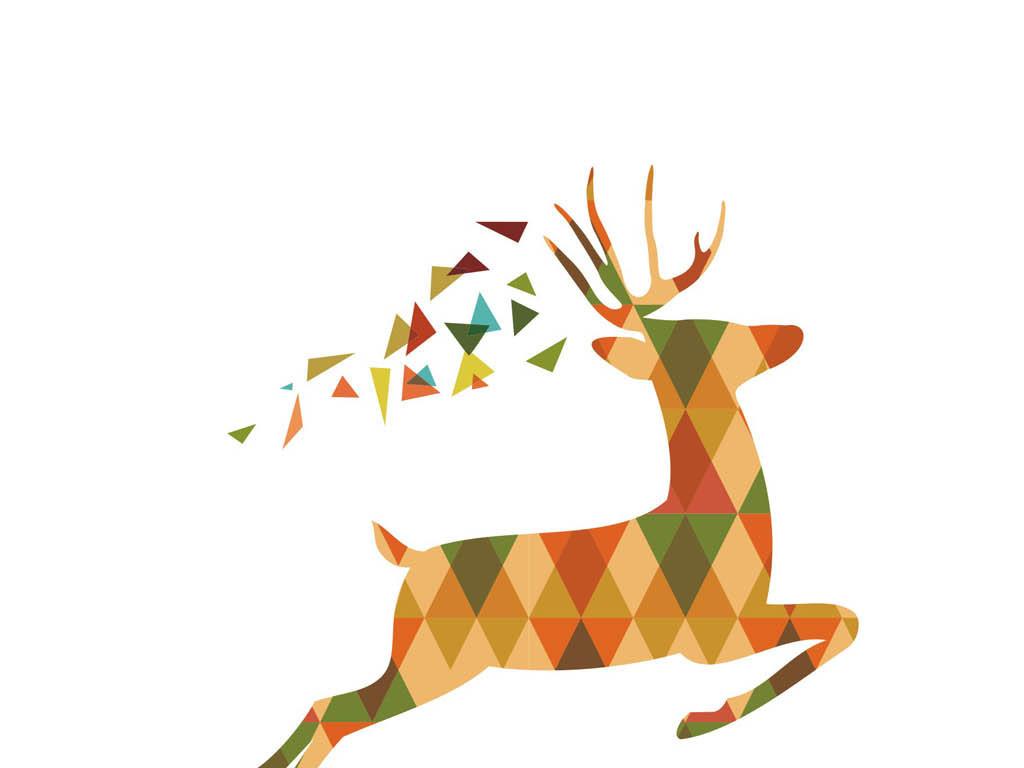 卡通鹿矢量cdr飞鹿神鹿鹿素材鹿角麋鹿礼物手绘麋鹿麋鹿森林森林麋鹿