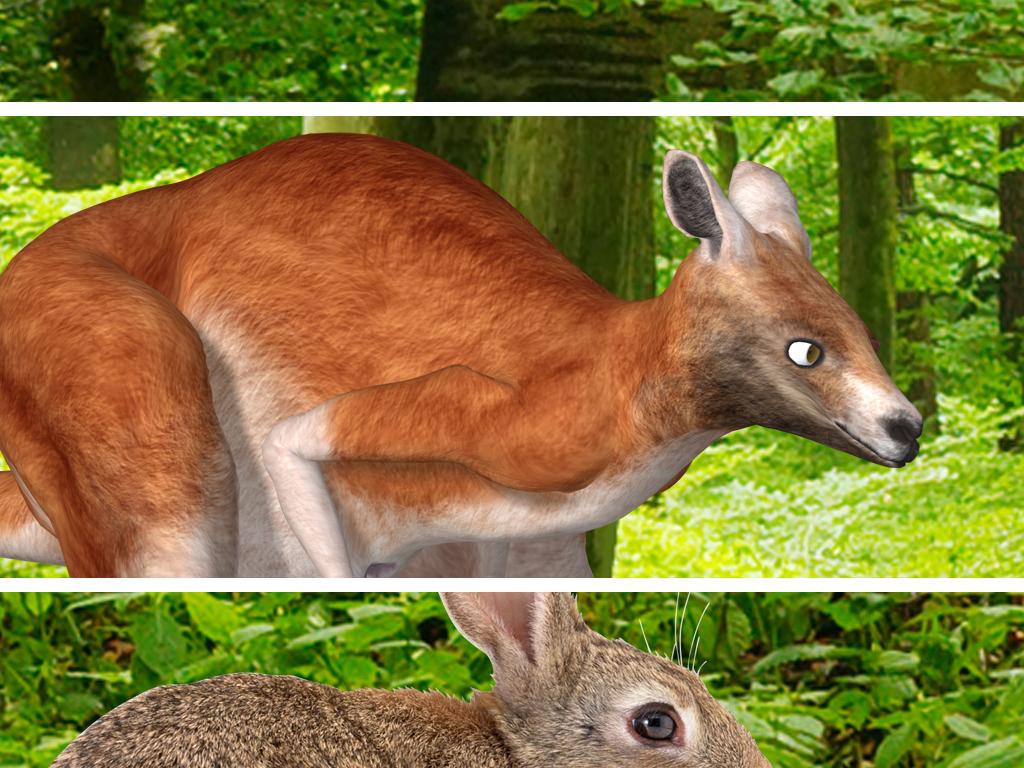 绿色森林麋鹿动物全屋主题空间背景墙