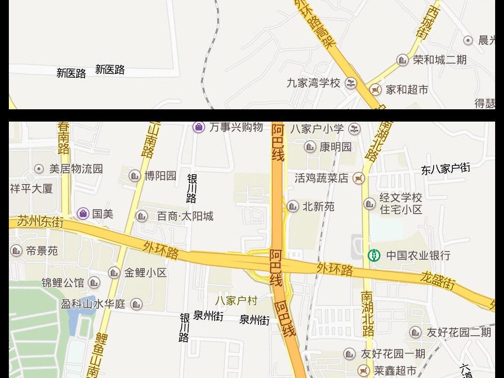 2016乌鲁木齐市地图电子地图