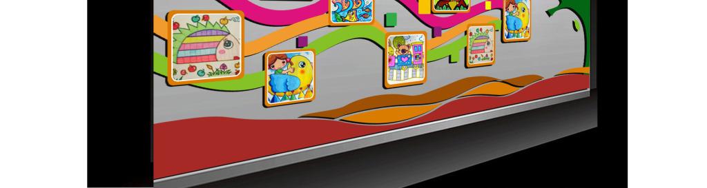 校园照片墙展示图片下载cdr素材-班级文化墙-我图网
