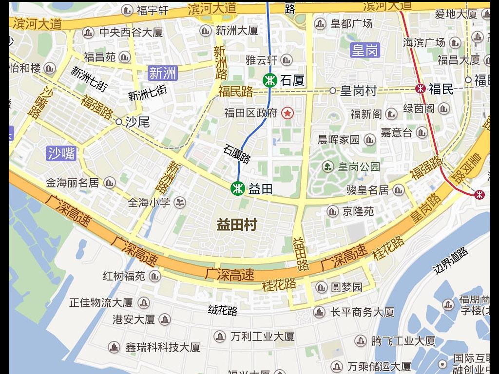 2016高清深圳市电子版地图图片下载