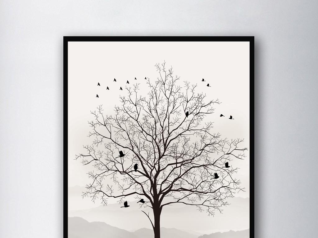 我图网提供精品流行现代简约时尚黑白艺术树木剪影装饰画无框画素材下载,作品模板源文件可以编辑替换,设计作品简介: 现代简约时尚黑白艺术树木剪影装饰画无框画 位图, RGB格式高清大图,使用软件为 Photoshop CS2(.psd) 黑白装饰画