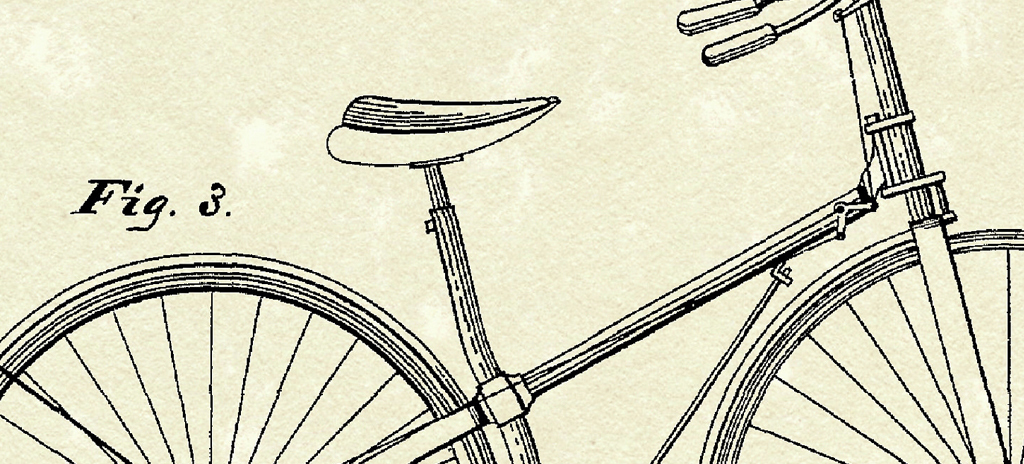 北欧美式乡村复古线条自行车英文装饰画图片