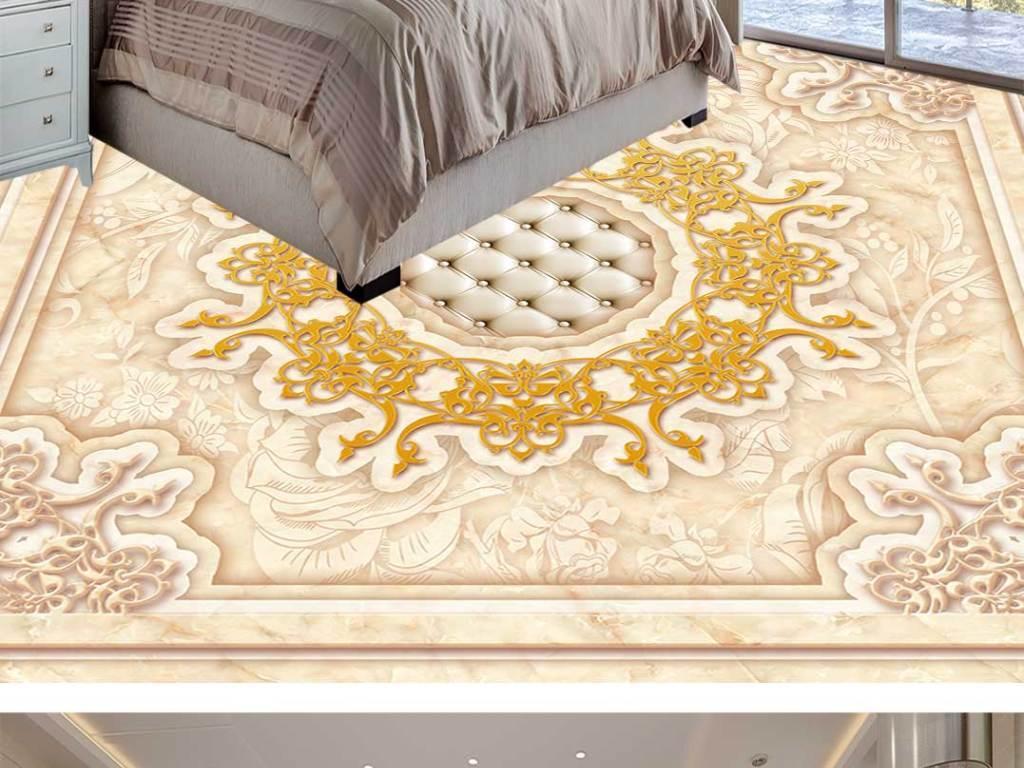 欧式花纹拼花地板地砖