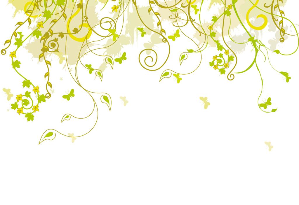 藤条矢量植物壁纸小清新