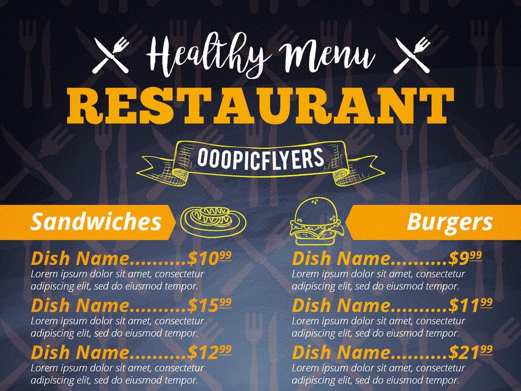 酒吧酒水单餐饮vi折页创意价目表模板模板餐厅价目表创意手绘创意模板