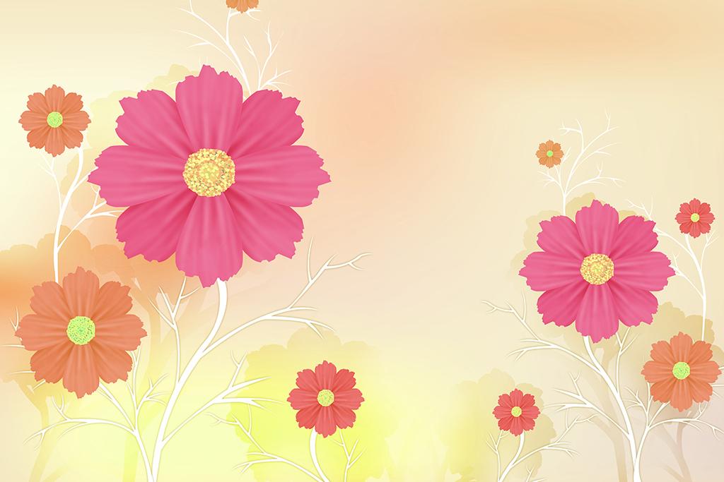 背景墙|装饰画 电视背景墙 现代简约电视背景墙 > 红色太阳花向日葵