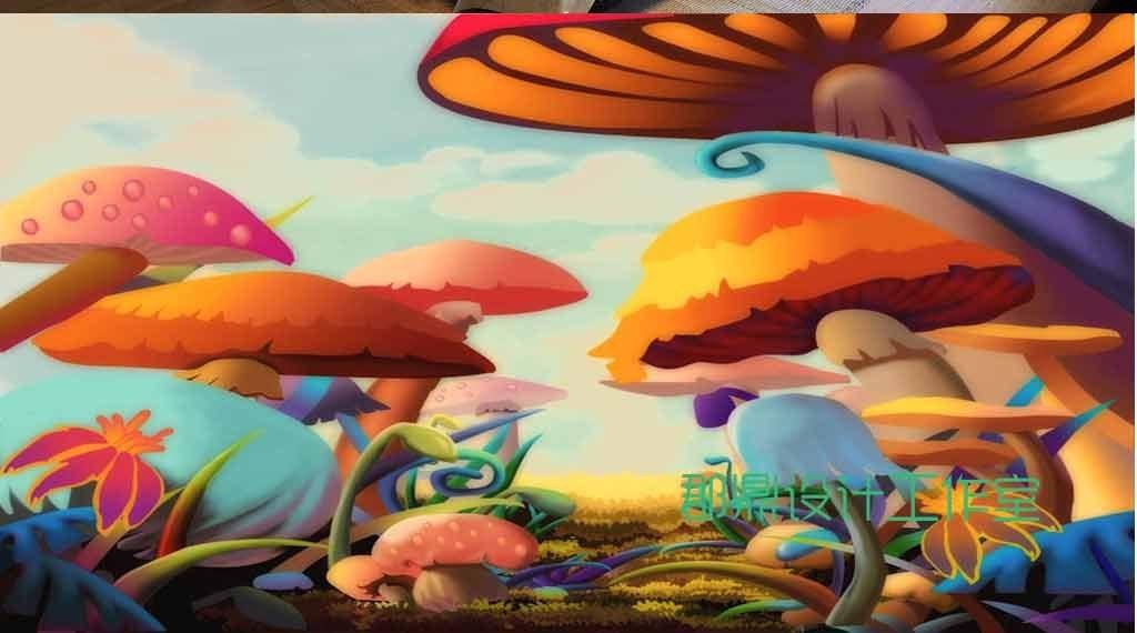 变异的大蘑菇(图片编号:15718305)_手绘电视背景墙_我