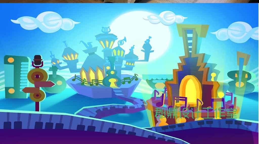 儿童房小孩房抽象手绘卡通漫画益智玩具壁纸壁画墙纸
