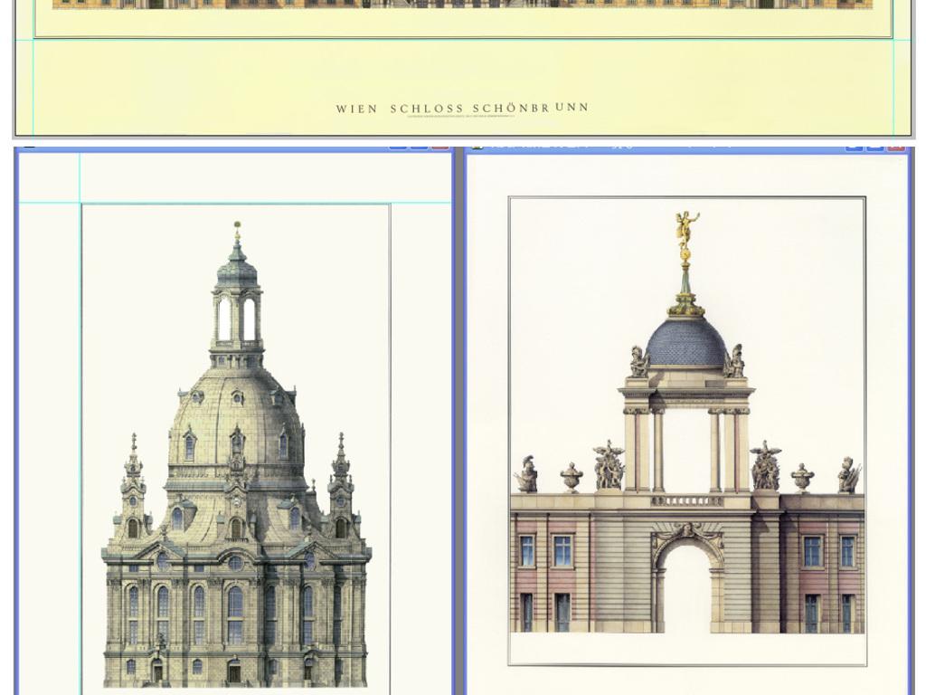 高清欧美建筑装饰画喷绘手绘图片画芯图片