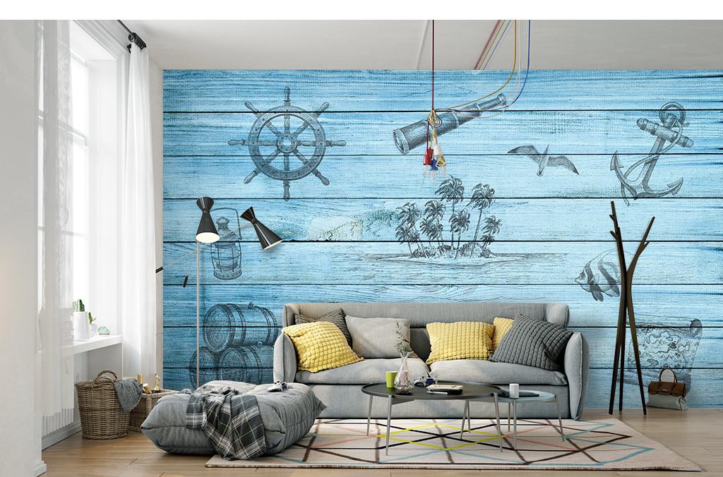 装修效果图儿童房艺术画手绘墙手绘背景墙壁画墙画墙纸壁纸装饰画北欧图片