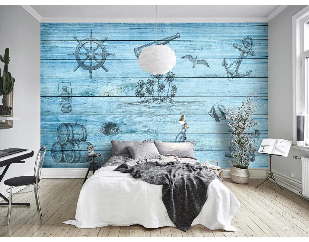 手绘背景墙壁画墙画墙纸壁纸装饰画北欧装饰画北欧背景墙地中海背景地