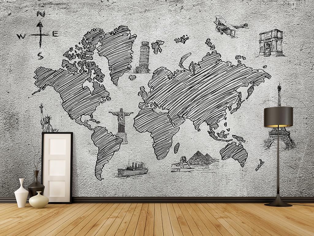 墙纸壁纸手绘背景艺术北欧背景艺术背景装饰画背景玻璃电视背景墙图片
