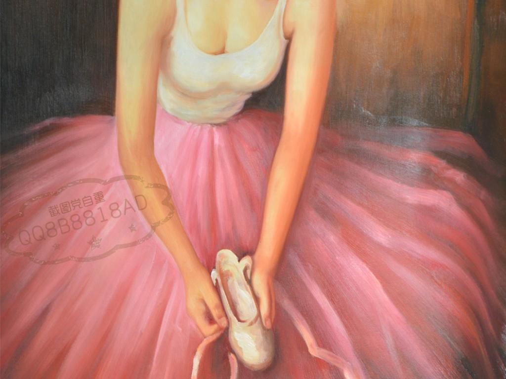 手绘芭蕾裙图片